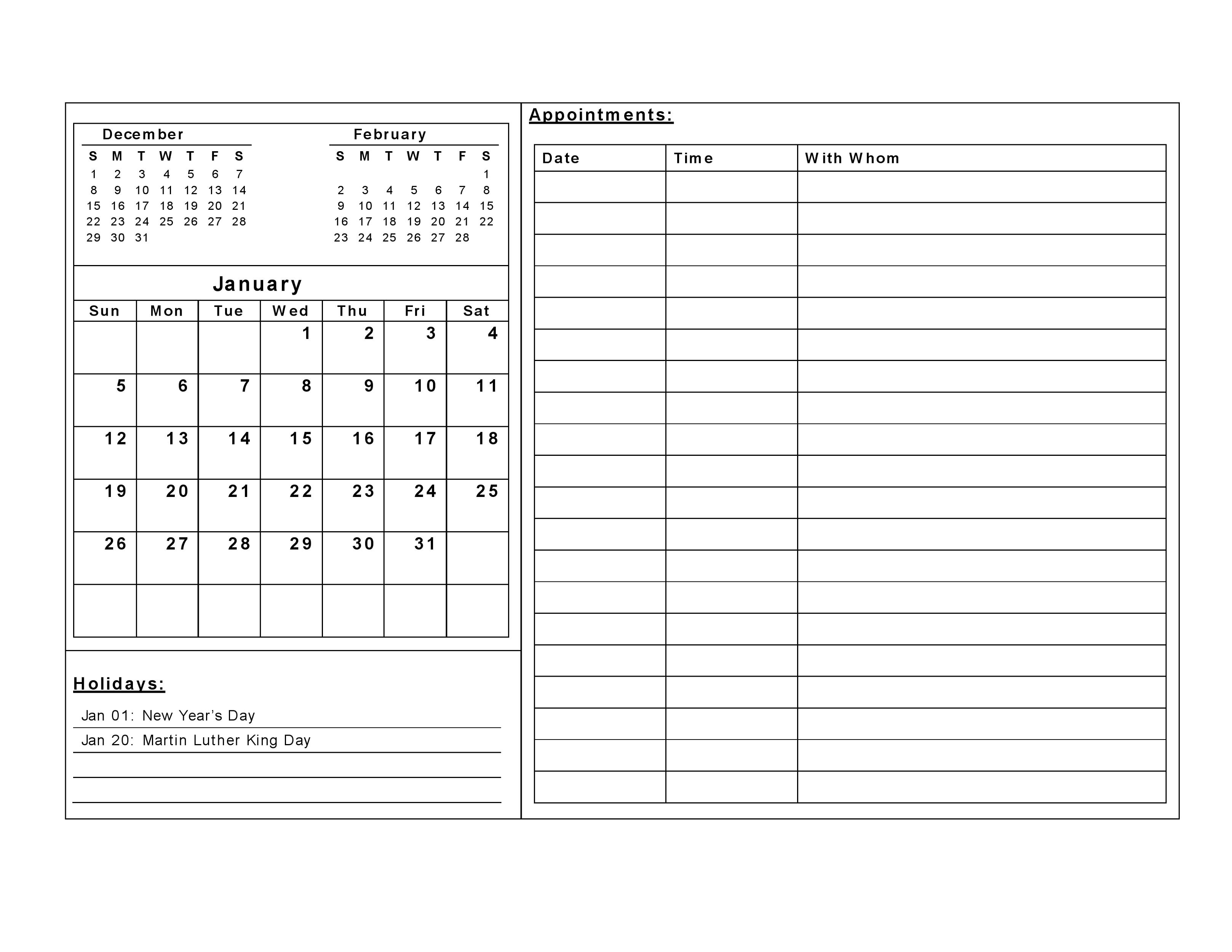 Free Printable Calendar Templates | Activity Shelter