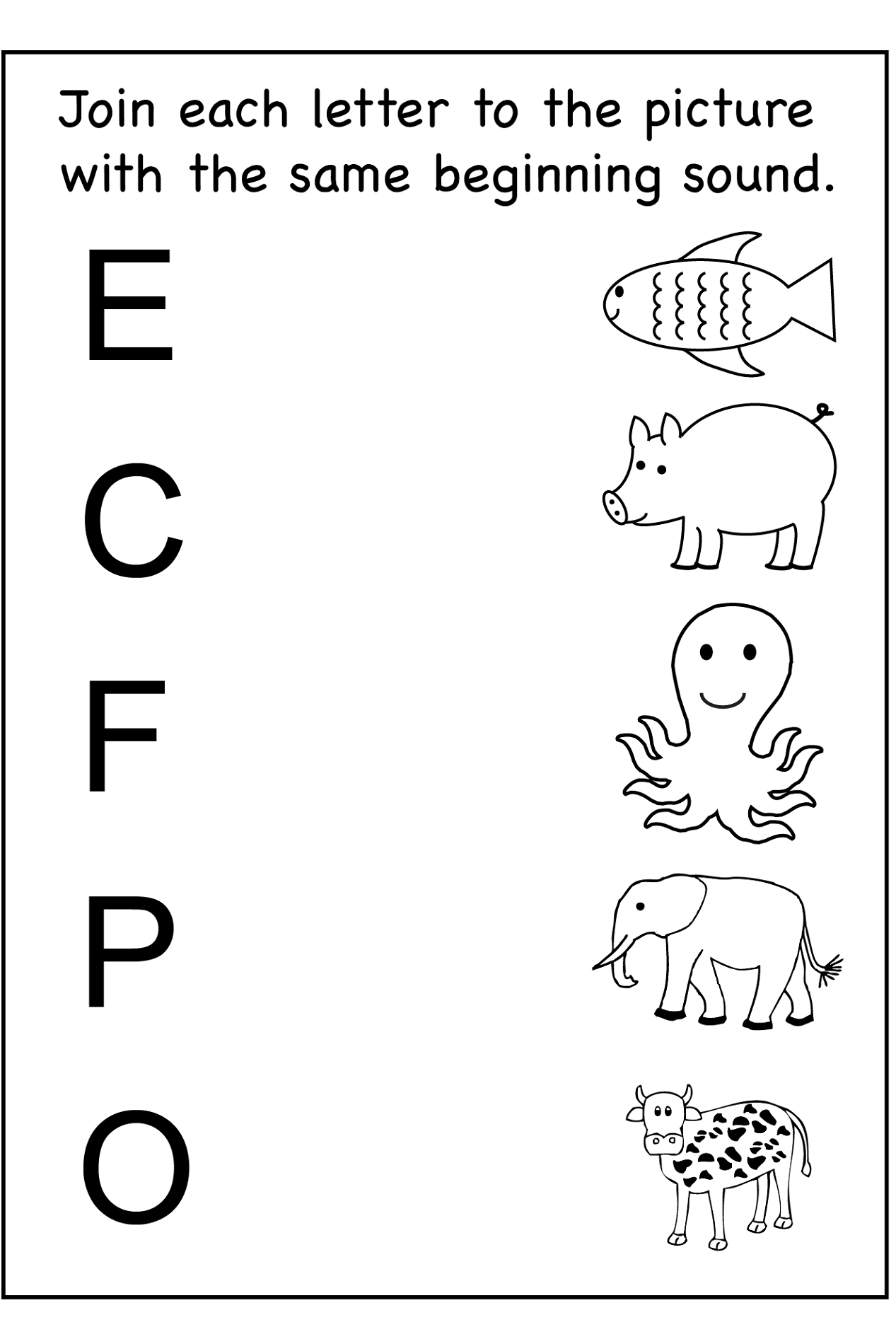 Printable Fun Kids Worksheets