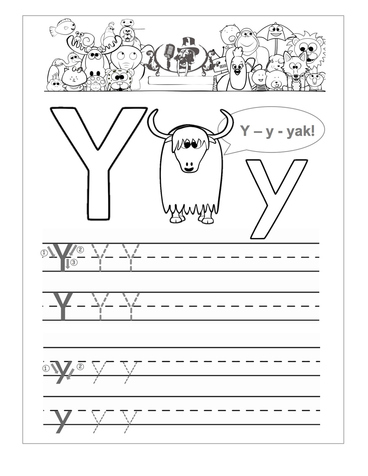 Worksheet Letter Y Worksheets Worksheet Fun Worksheet