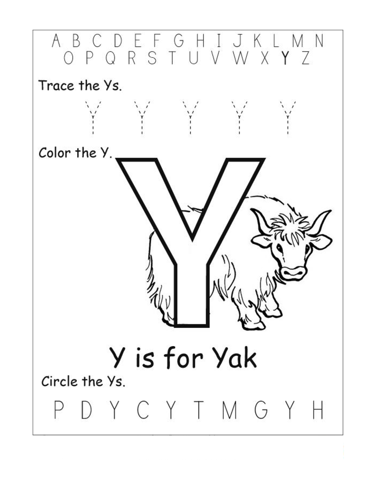 Worksheet Letter Y Worksheet Grass Fedjp Worksheet Study