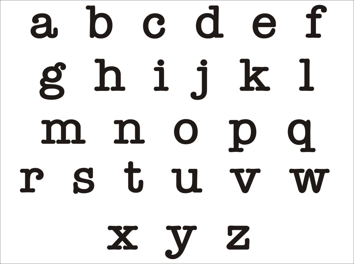 Lowercase Alphabet Templates