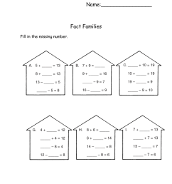 Math Worksheets Fact Families   Activity Shelter [ 1600 x 1236 Pixel ]
