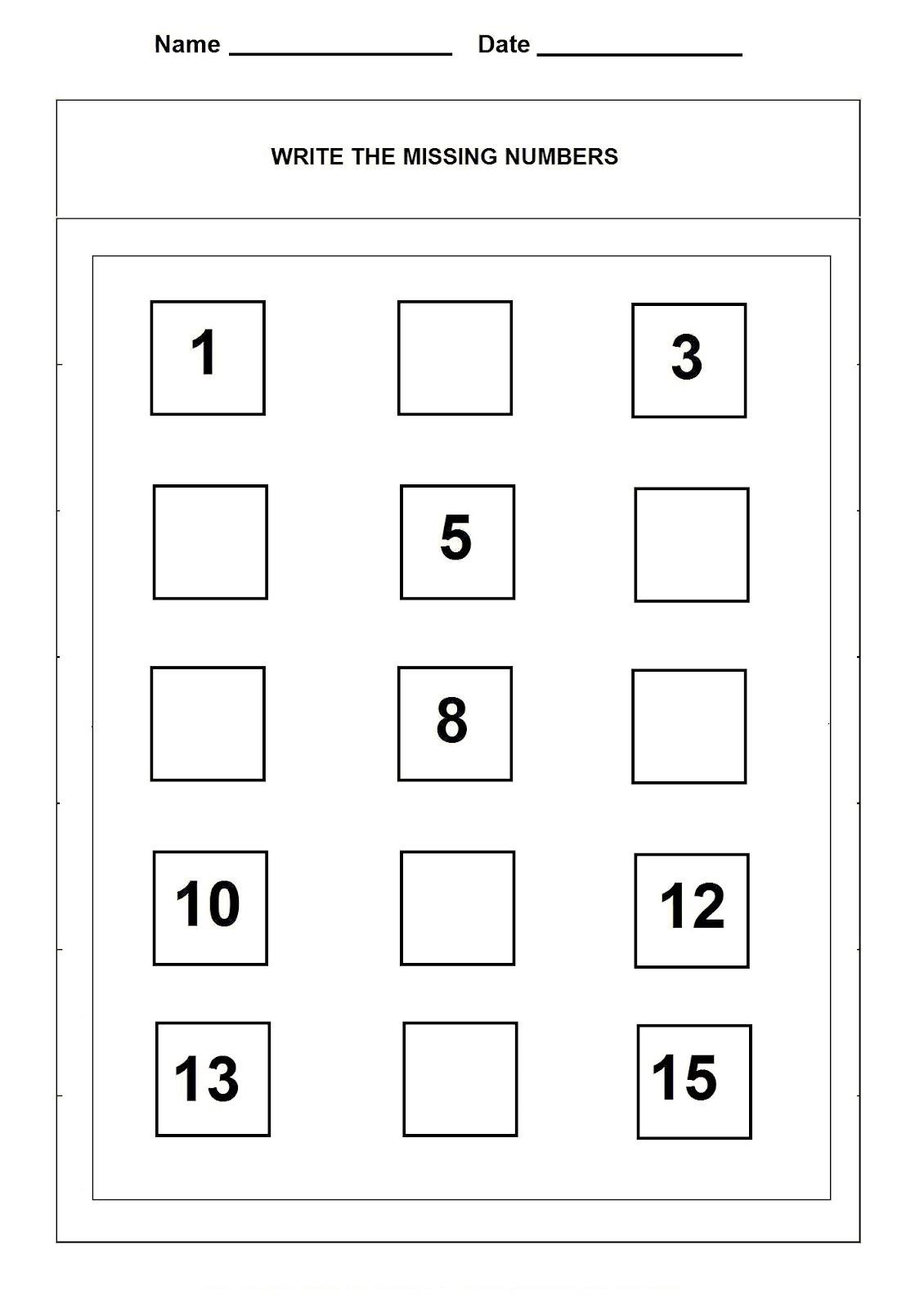 Kindergarten Number Recognition Worksheet 11