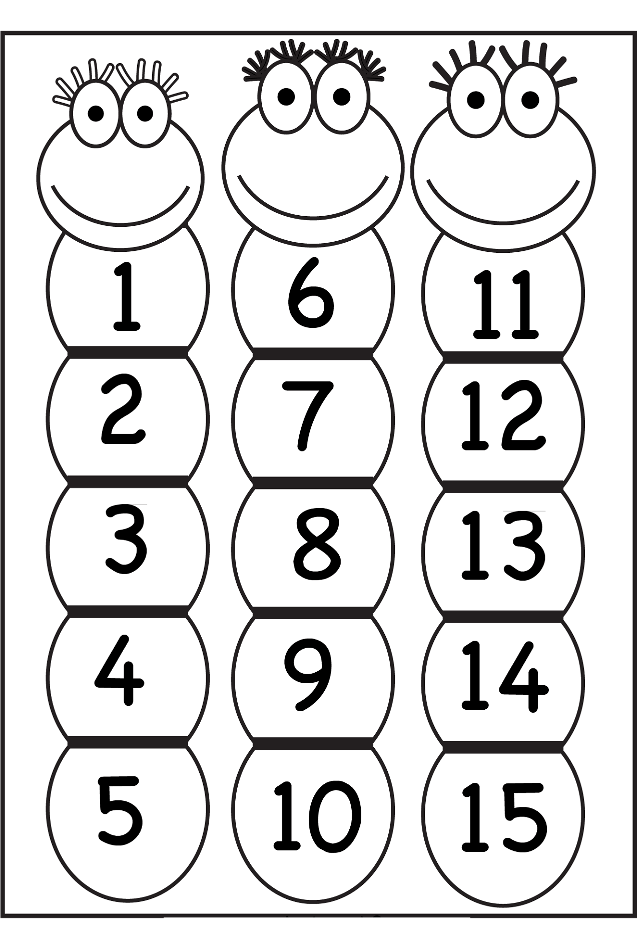 Number 15 Worksheets Coloring Pages