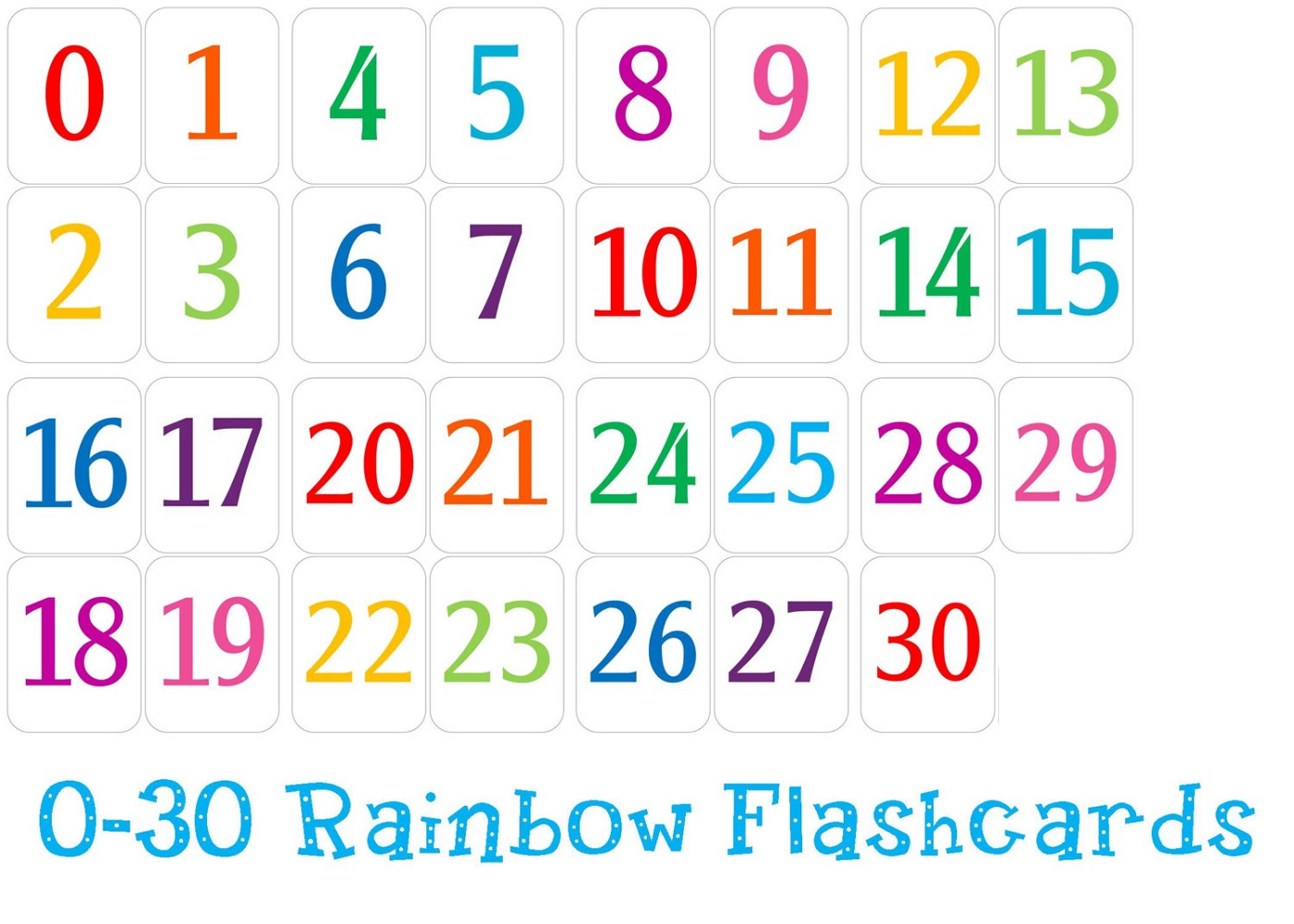 Free Printable Table Numbers 1 30 That Are Magic