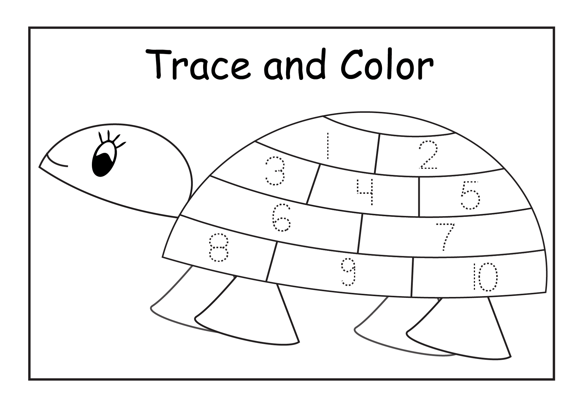 Number Tracer Pages For Kids