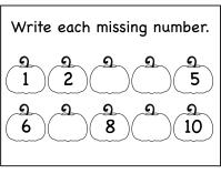 Kindergarten Worksheets Numbers 1 10 - writing numbers 1 ...