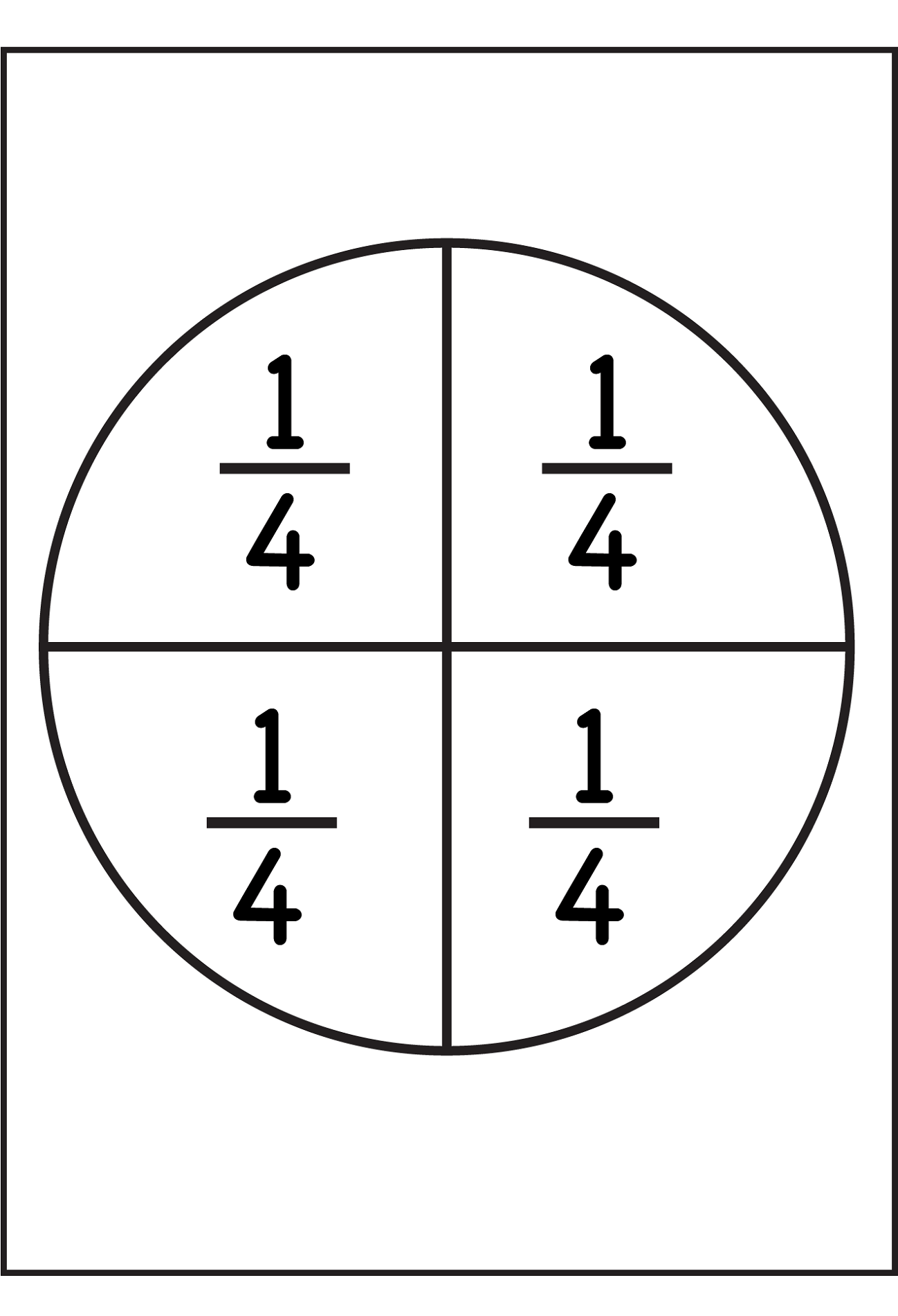 Percent Circle Templates Printable