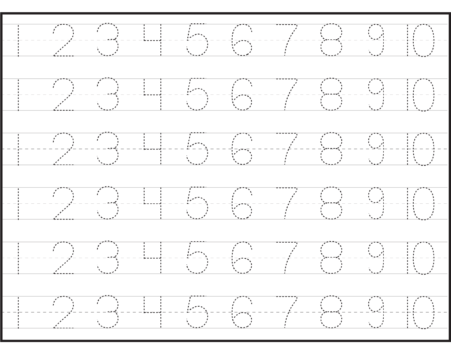 Pre K Worksheets Number