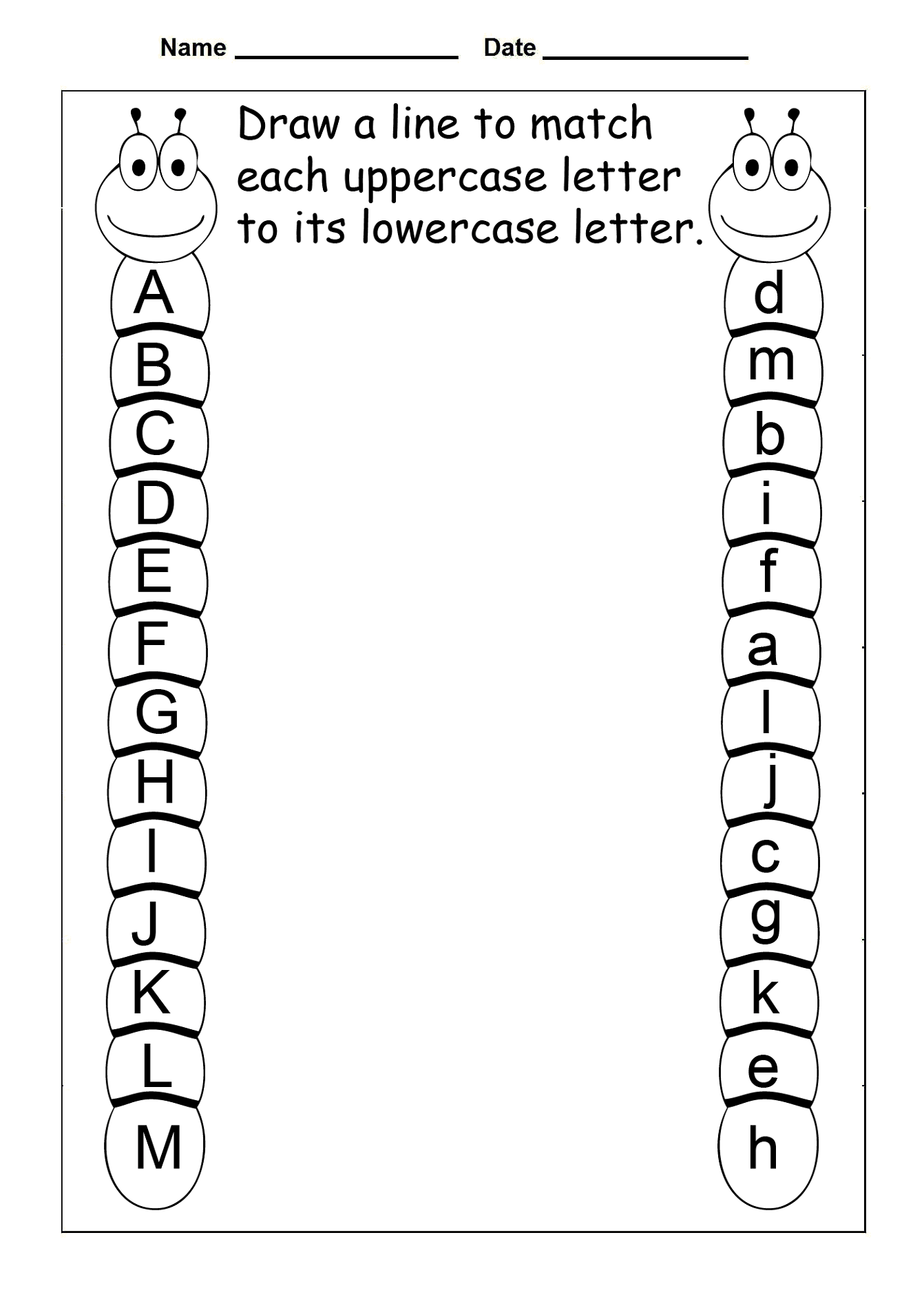 Printable Uppercase And Lowercase Letters