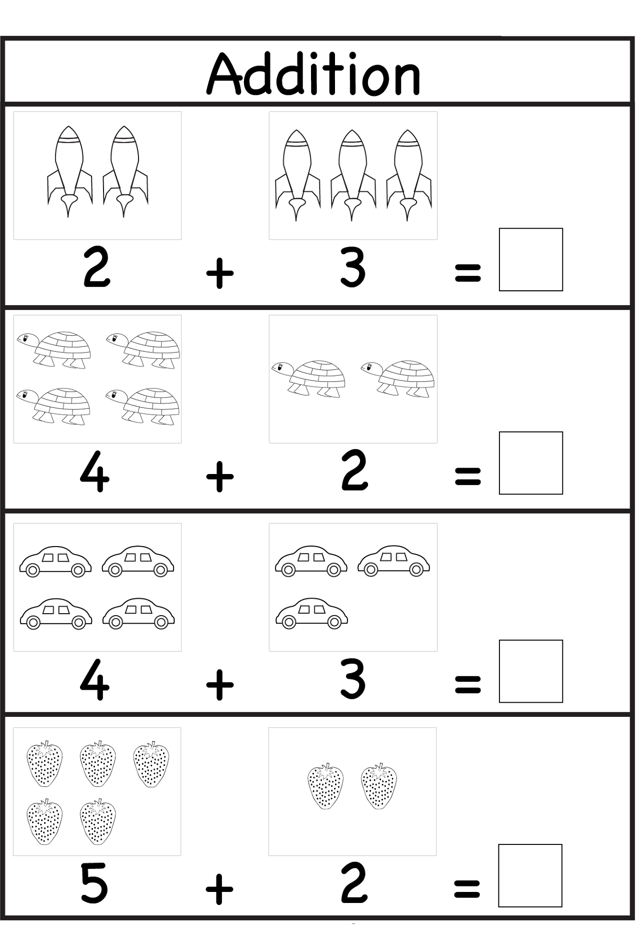 Worksheets For 3 Years Old Kids