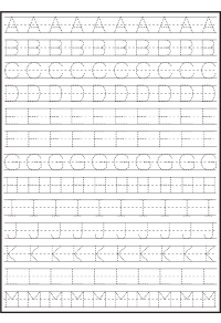 Abc Handwriting Practice Worksheets