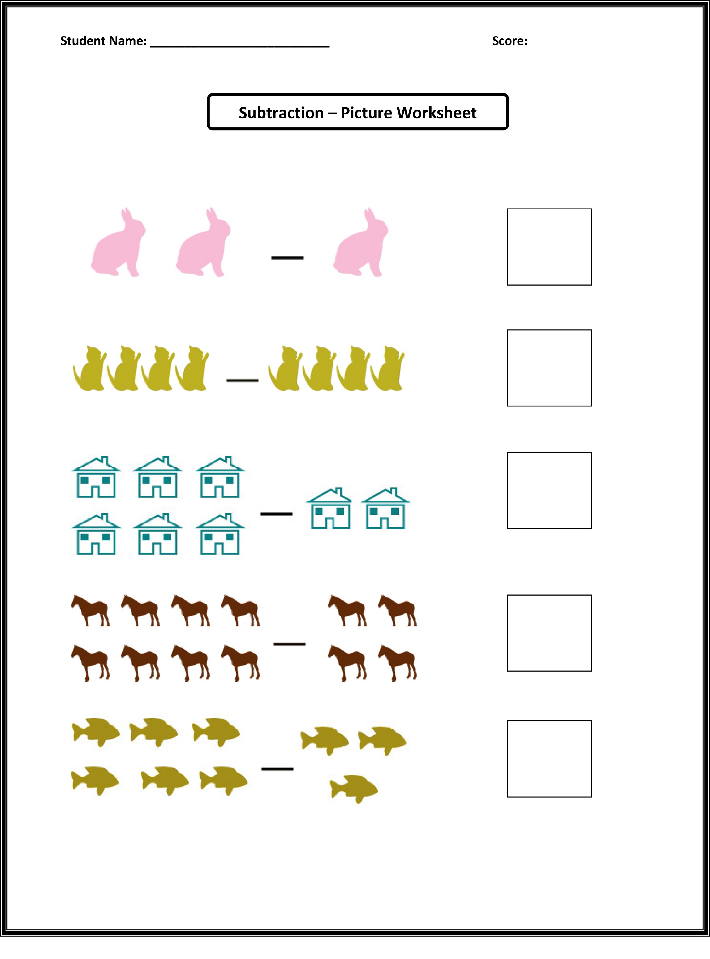 Printable Tally Chart Worksheets