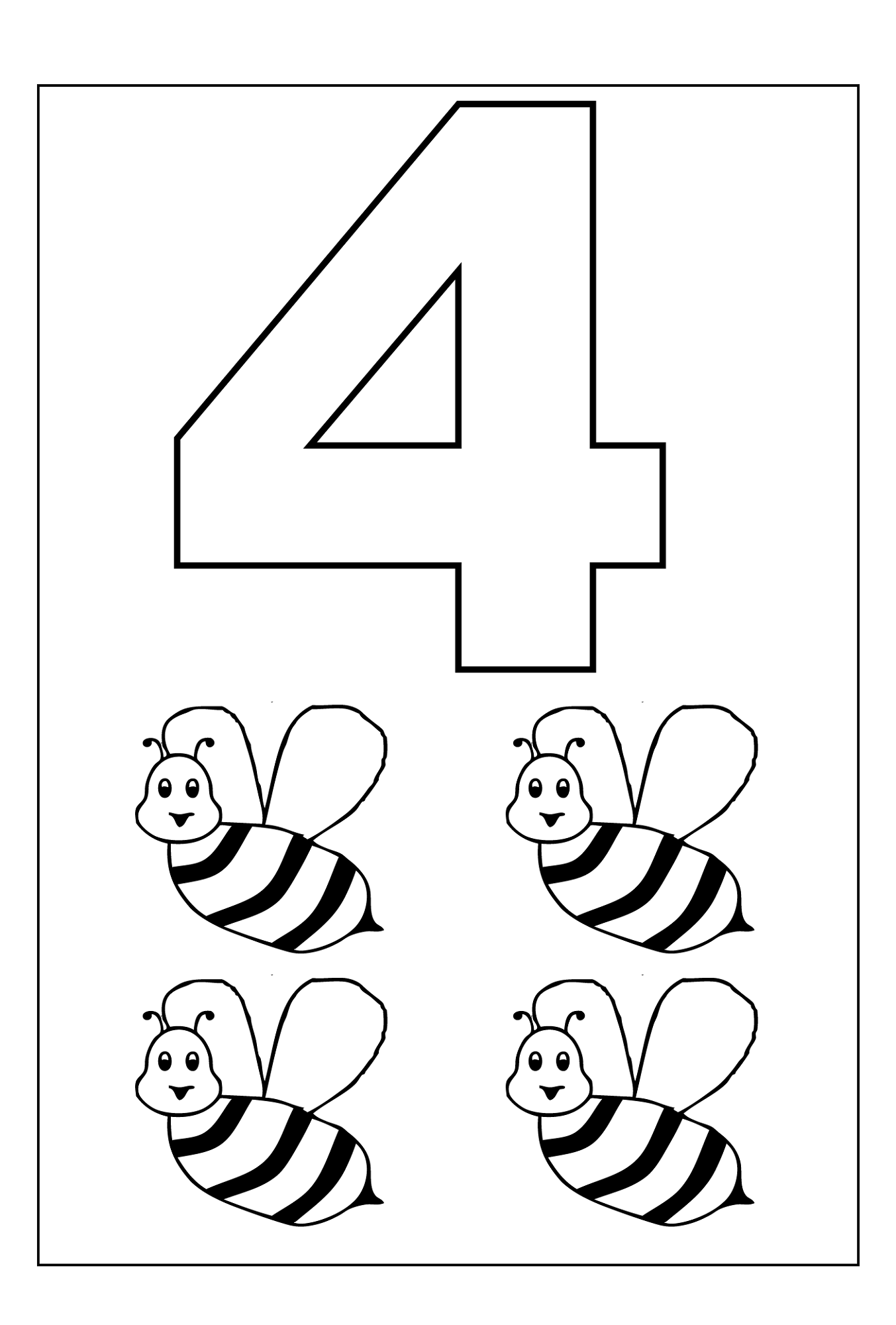 Number 4 Worksheets To Print