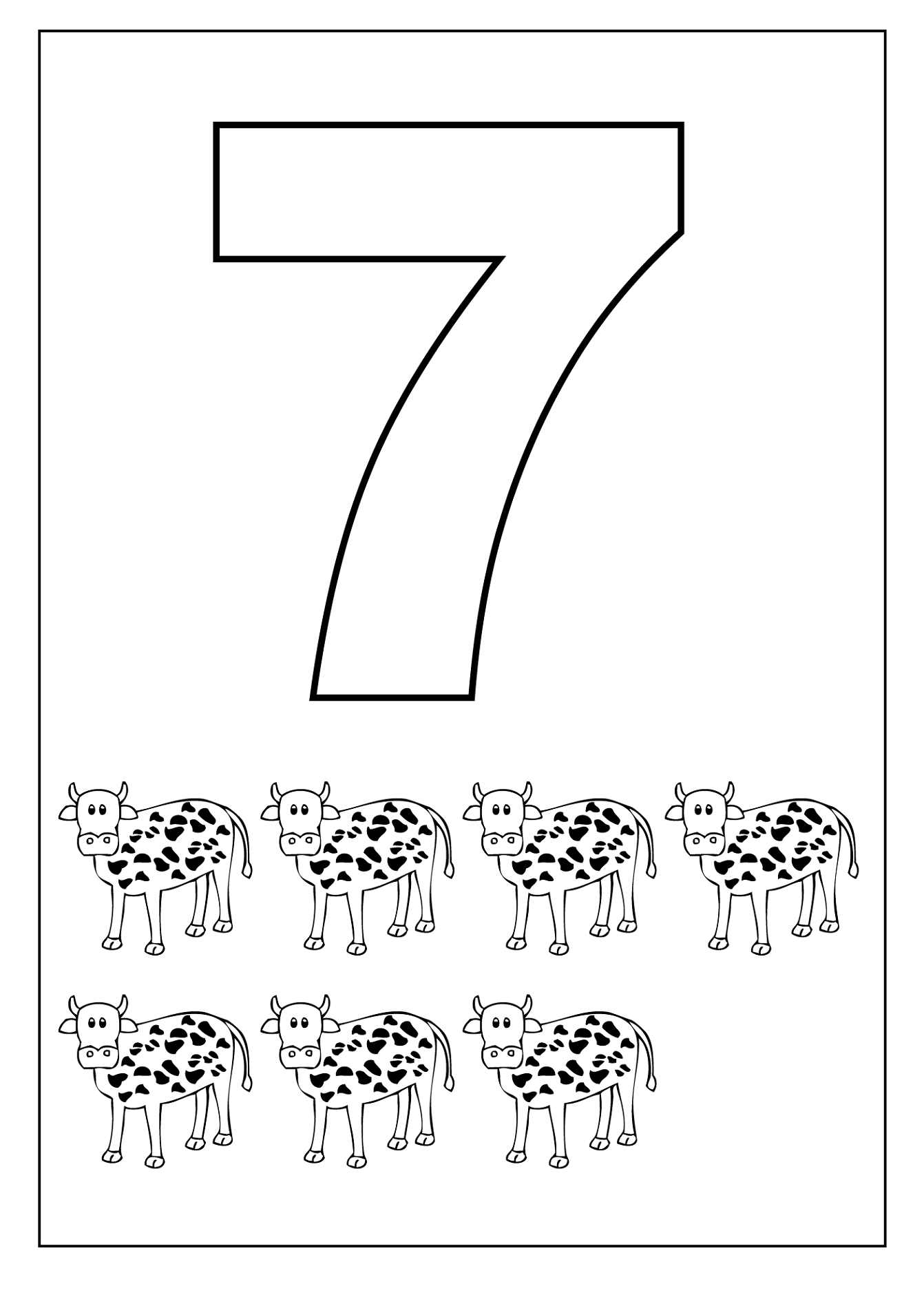 Free Number 7 Worksheets