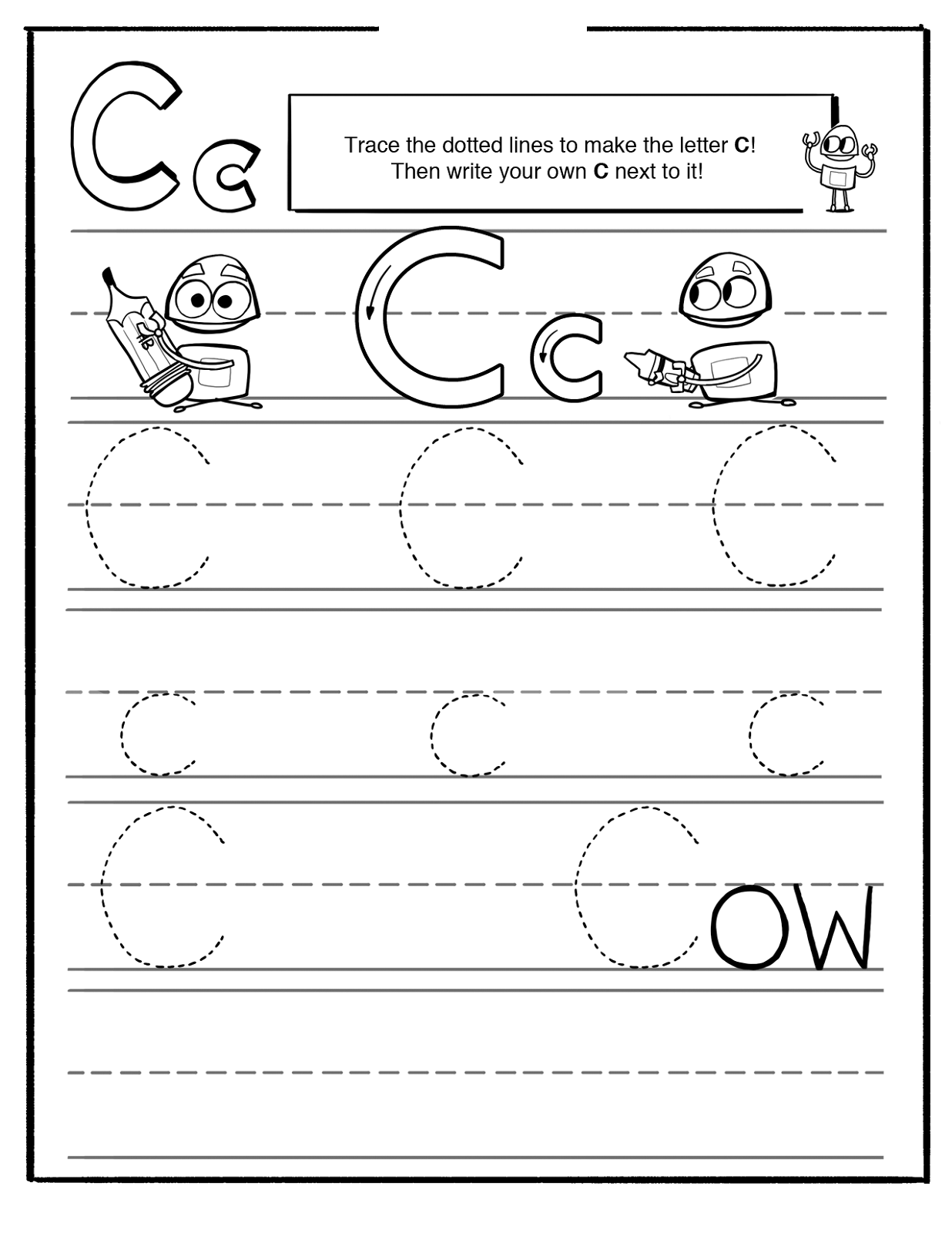 Letter C Worksheets Printable