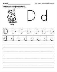 Letter D Tracing Worksheets.Letter D Worksheet