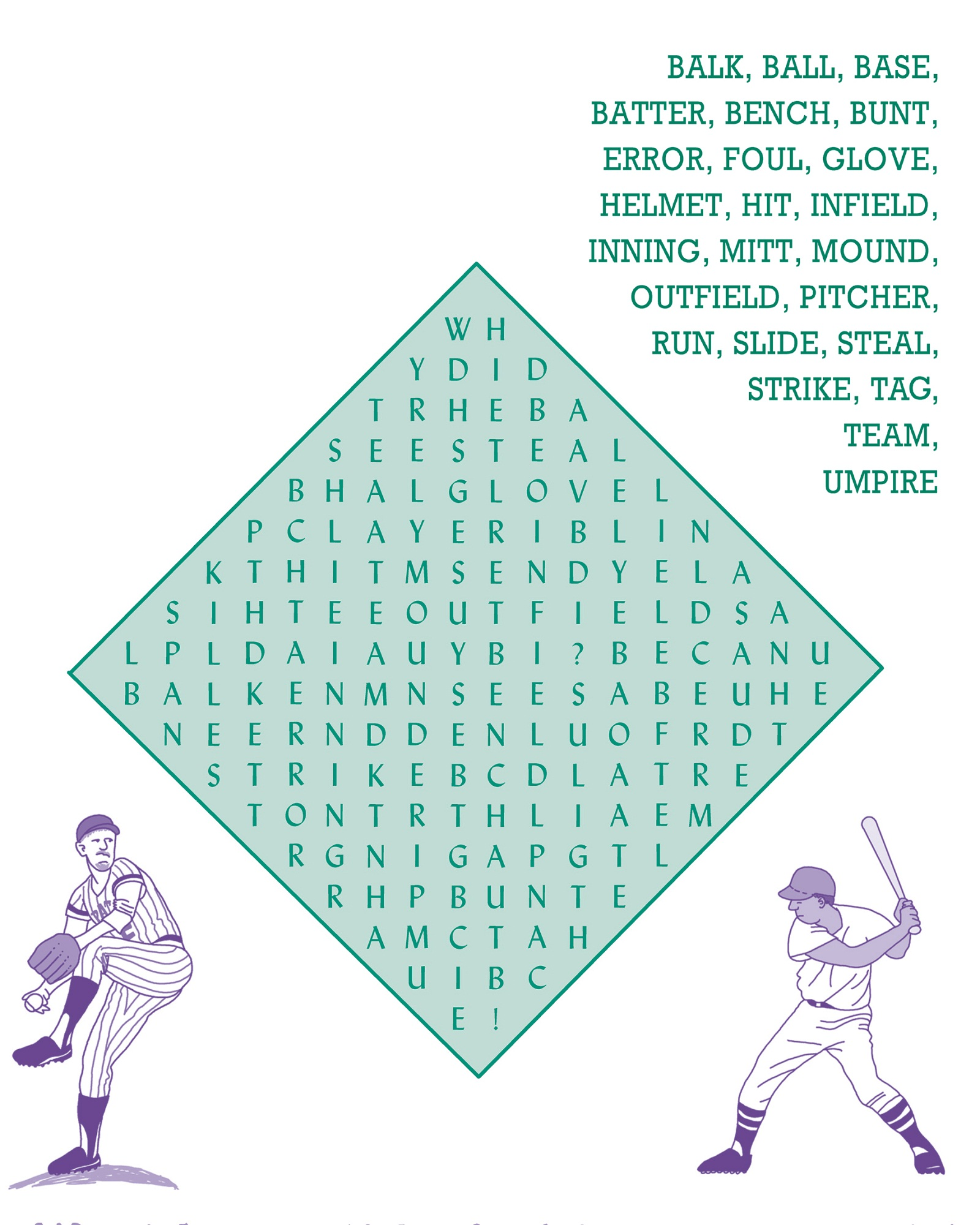 Free Baseball Word Search