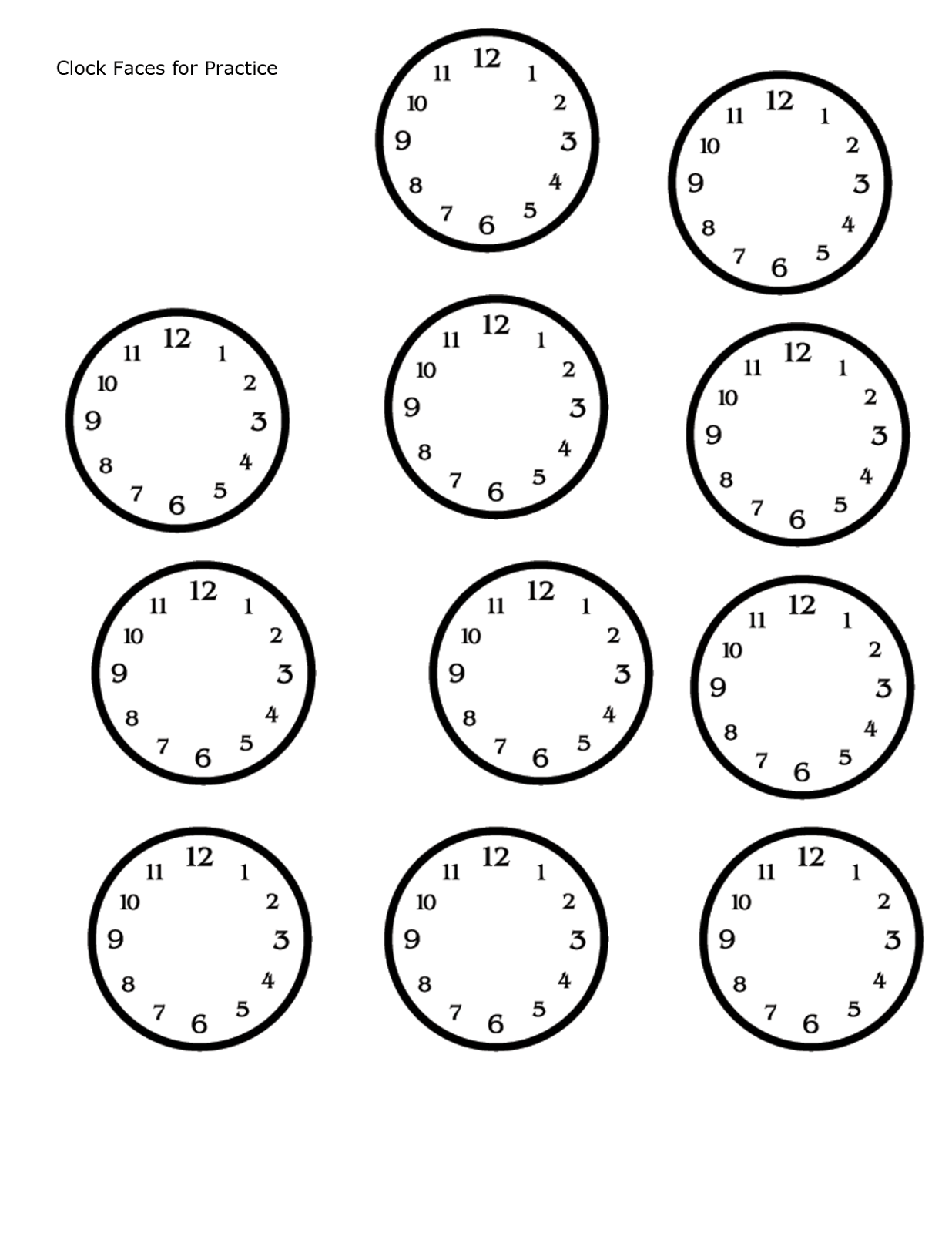 Time Worksheet Eyfs