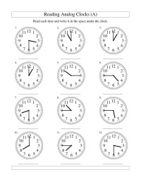 Clock Faces Worksheets Worksheets For School - Getadating