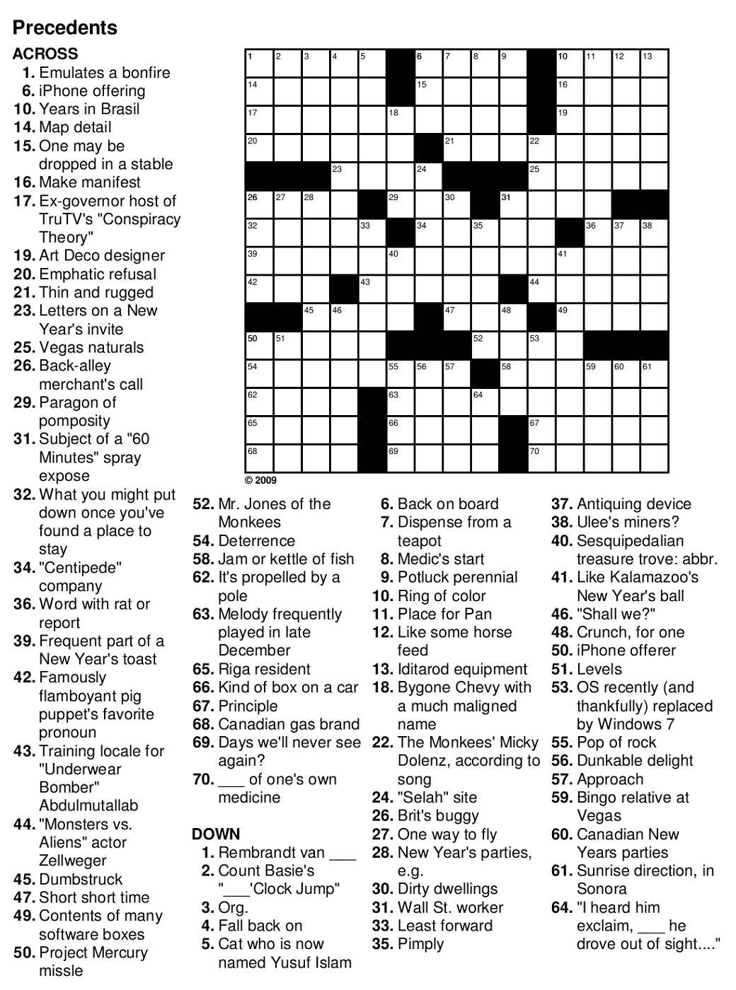 Easy Crossword Puzzles For Seniors