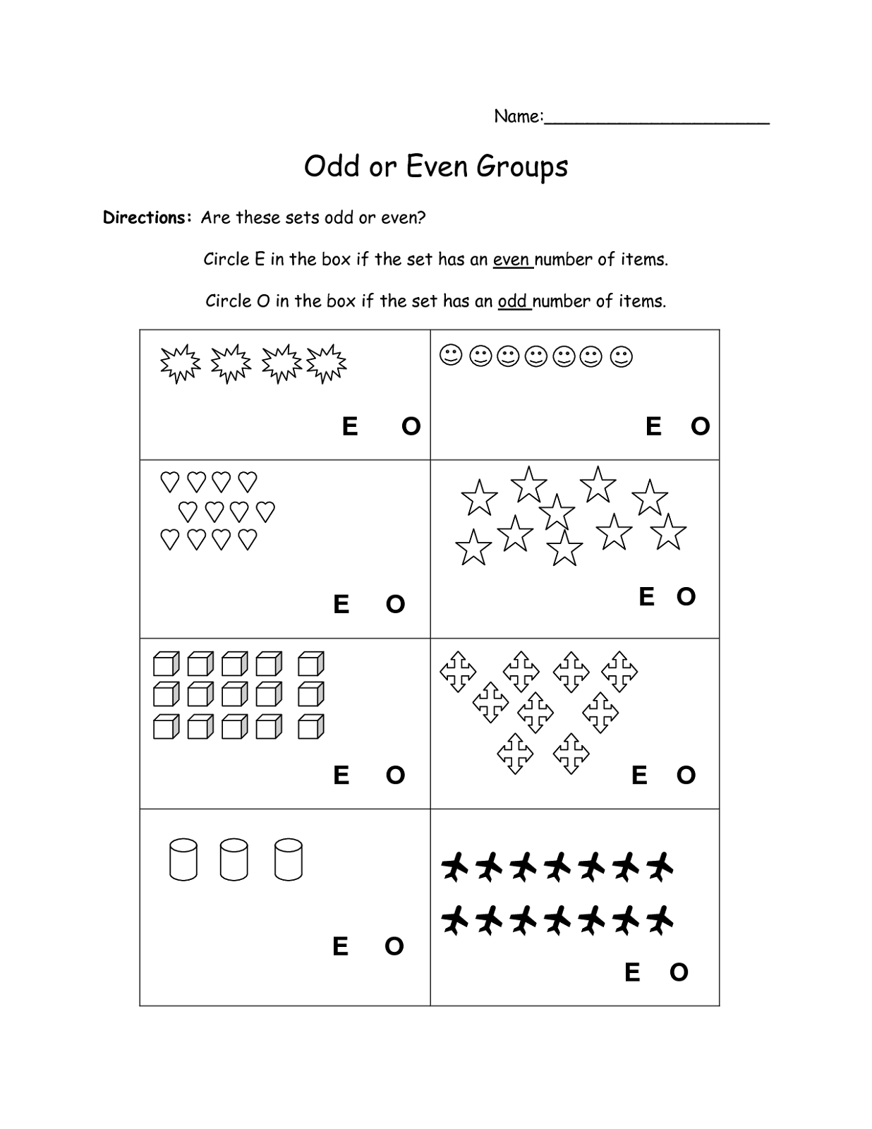 Free Even Odd Worksheets
