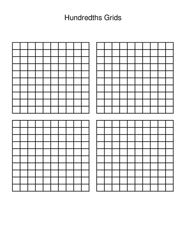 Free Math Grid Worksheets