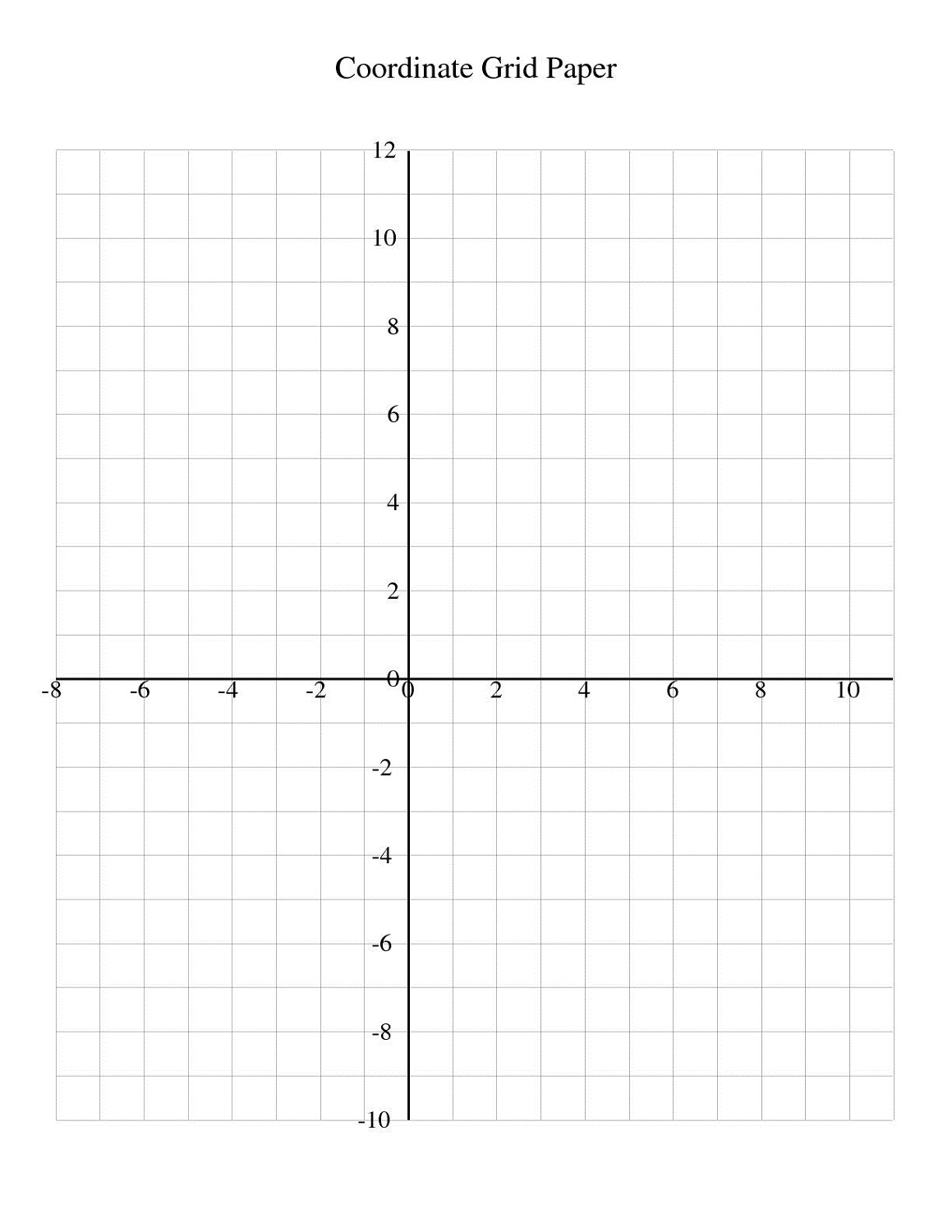 Free Math Grid Worksheets