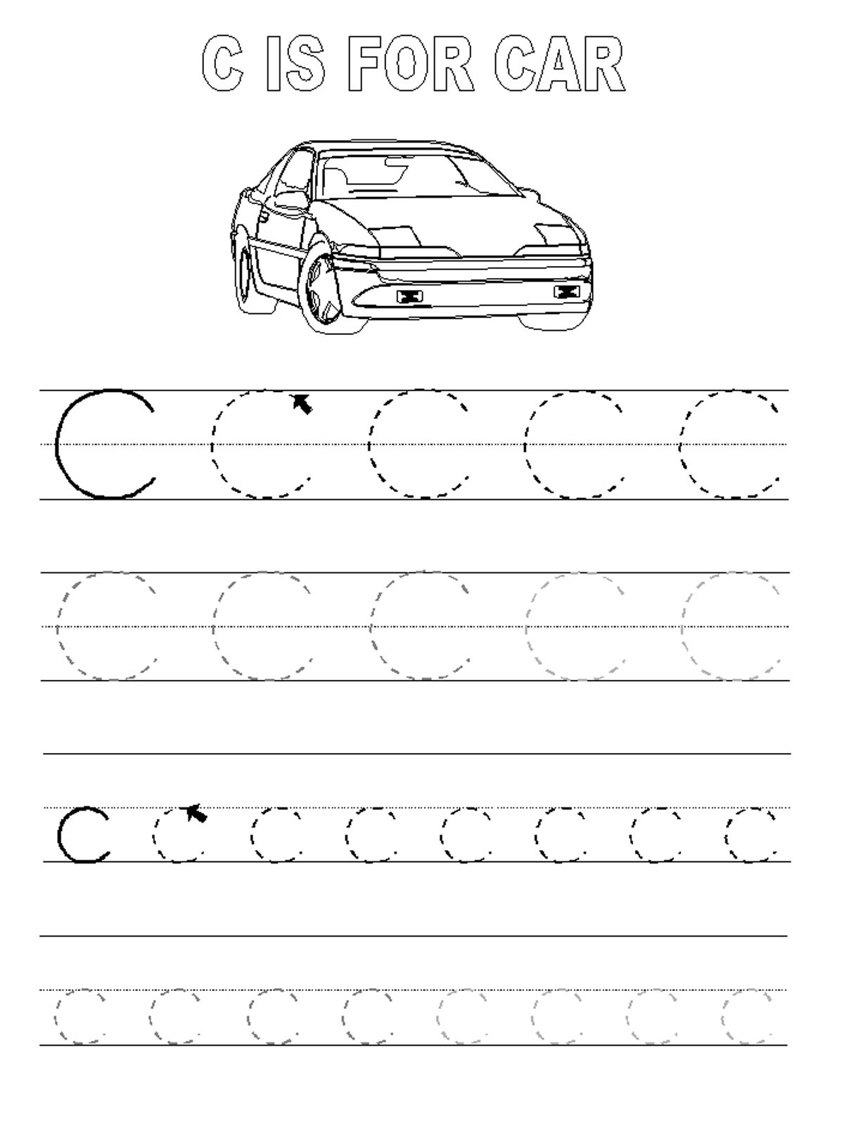 Letter C Tracing