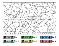 Free Color by Number Worksheets Printable   Activity Shelter