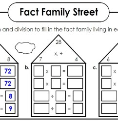 Addition And Subtraction Fact Family Worksheets   Printable Worksheets and  Activities for Teachers [ 843 x 1500 Pixel ]