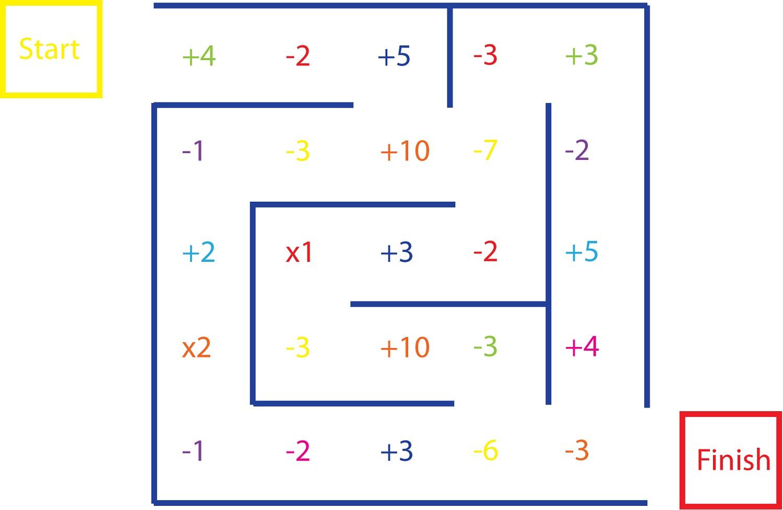 Math Maze Worksheets
