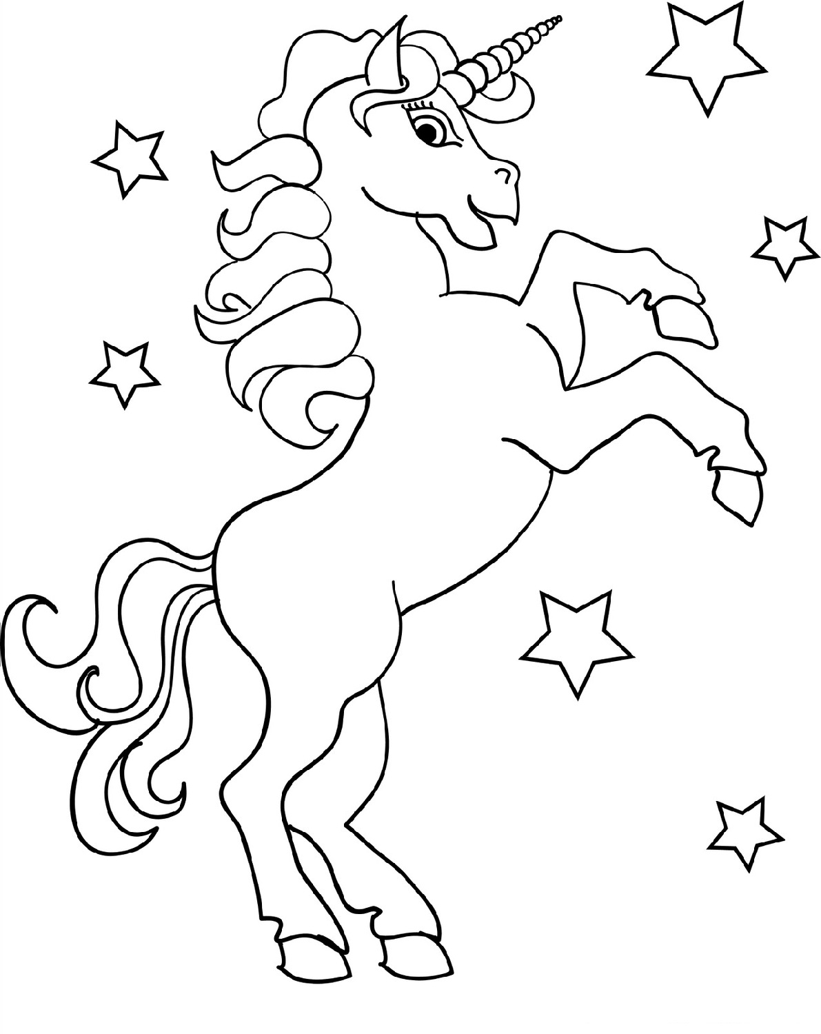 Unicorn Color Pages For Kids
