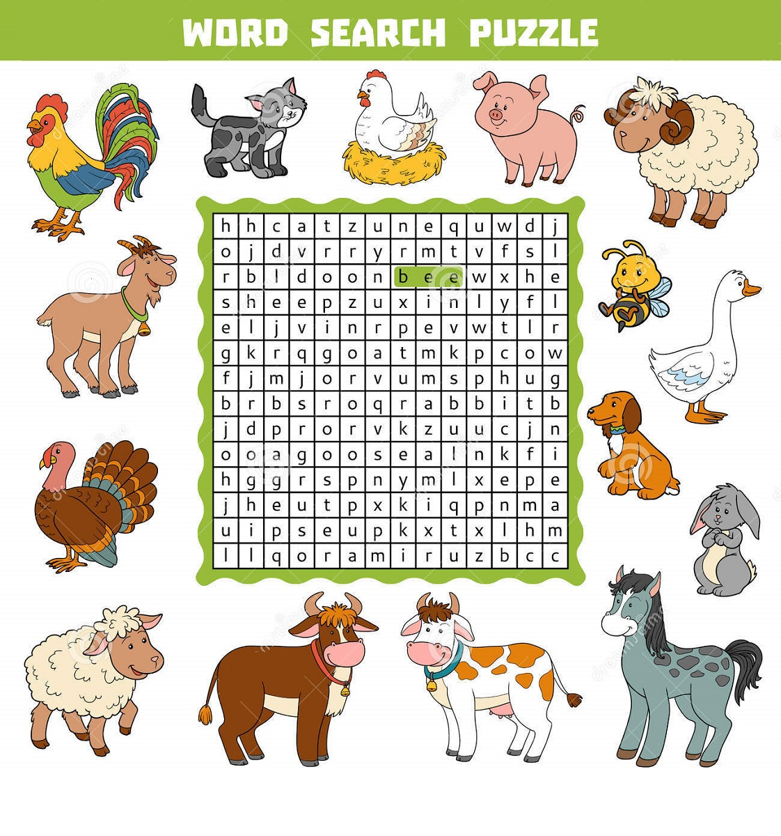 Animal Farm Word Search Free