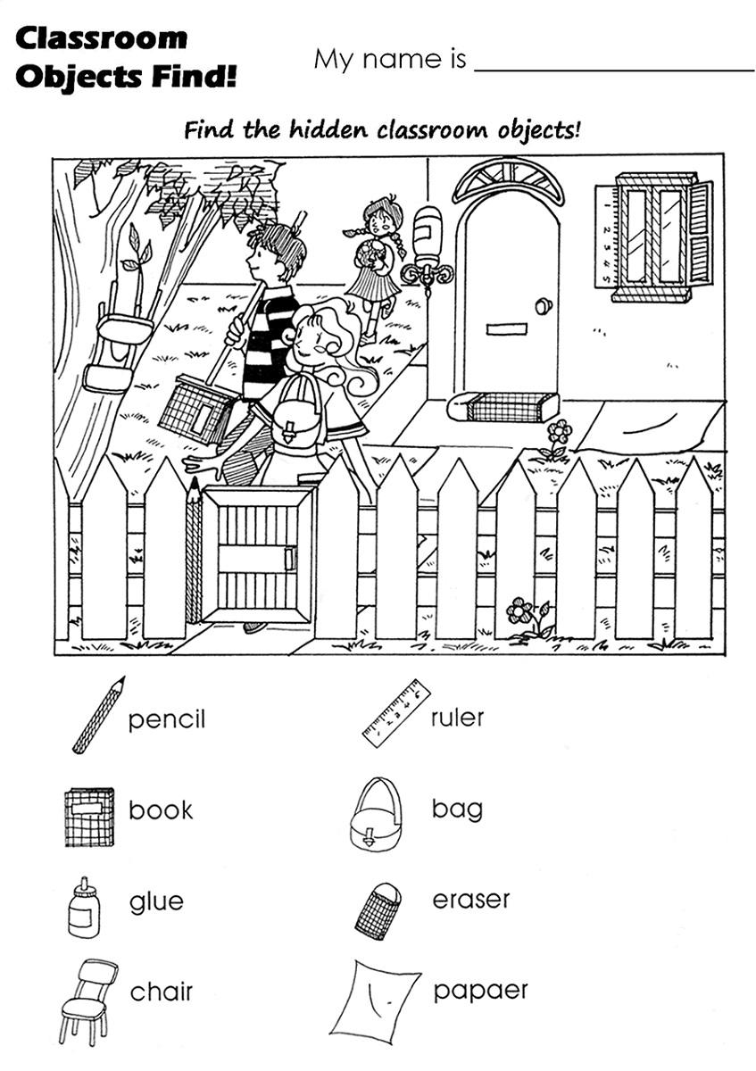 Find Hidden Picture Worksheets For Kindergarten. Find