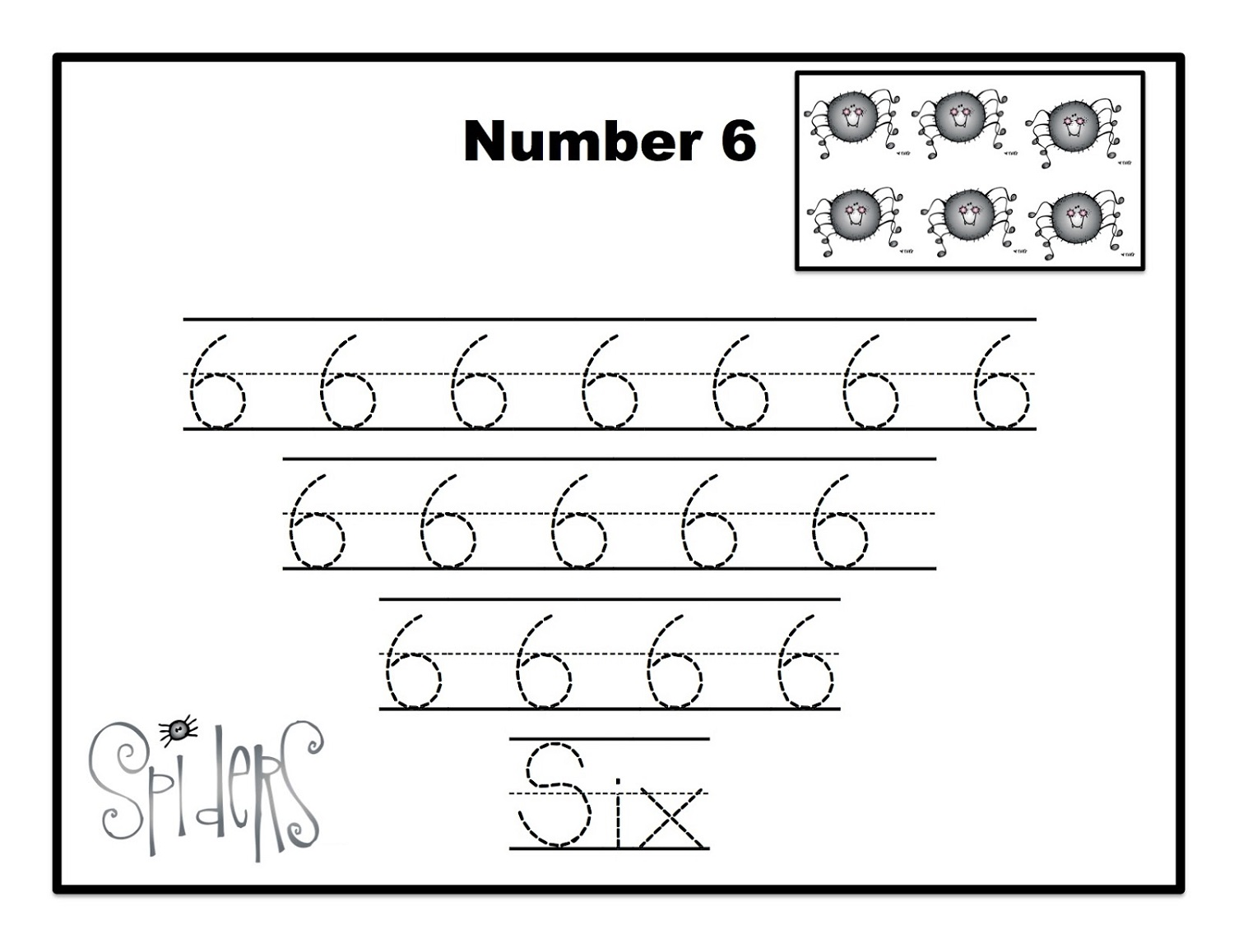 Number 6 Worksheets
