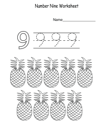 Free Number 9 Worksheets