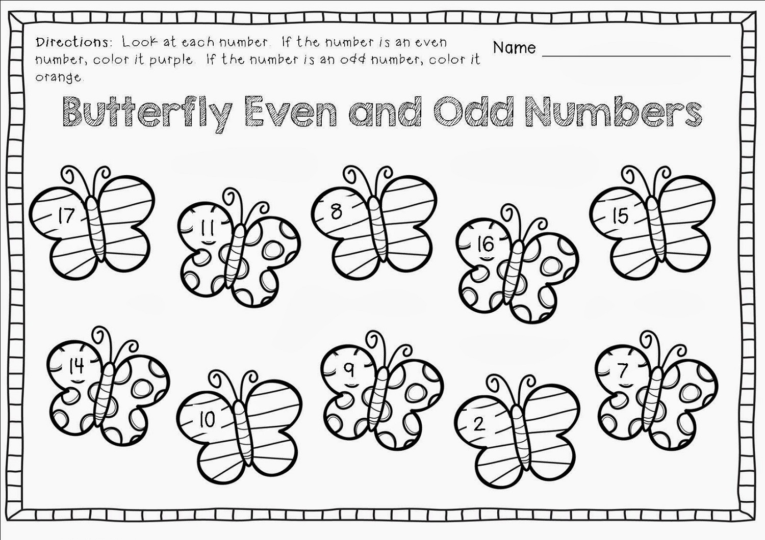 hight resolution of Free Odd and Even Worksheets   Activity Shelter
