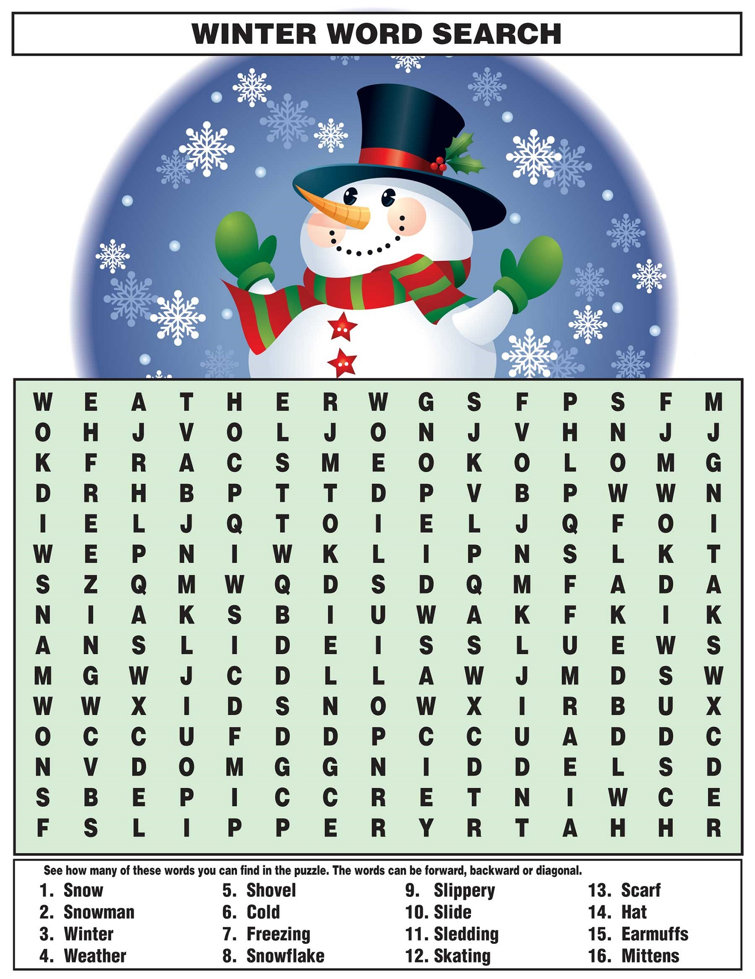 Free Word Searches For Kids
