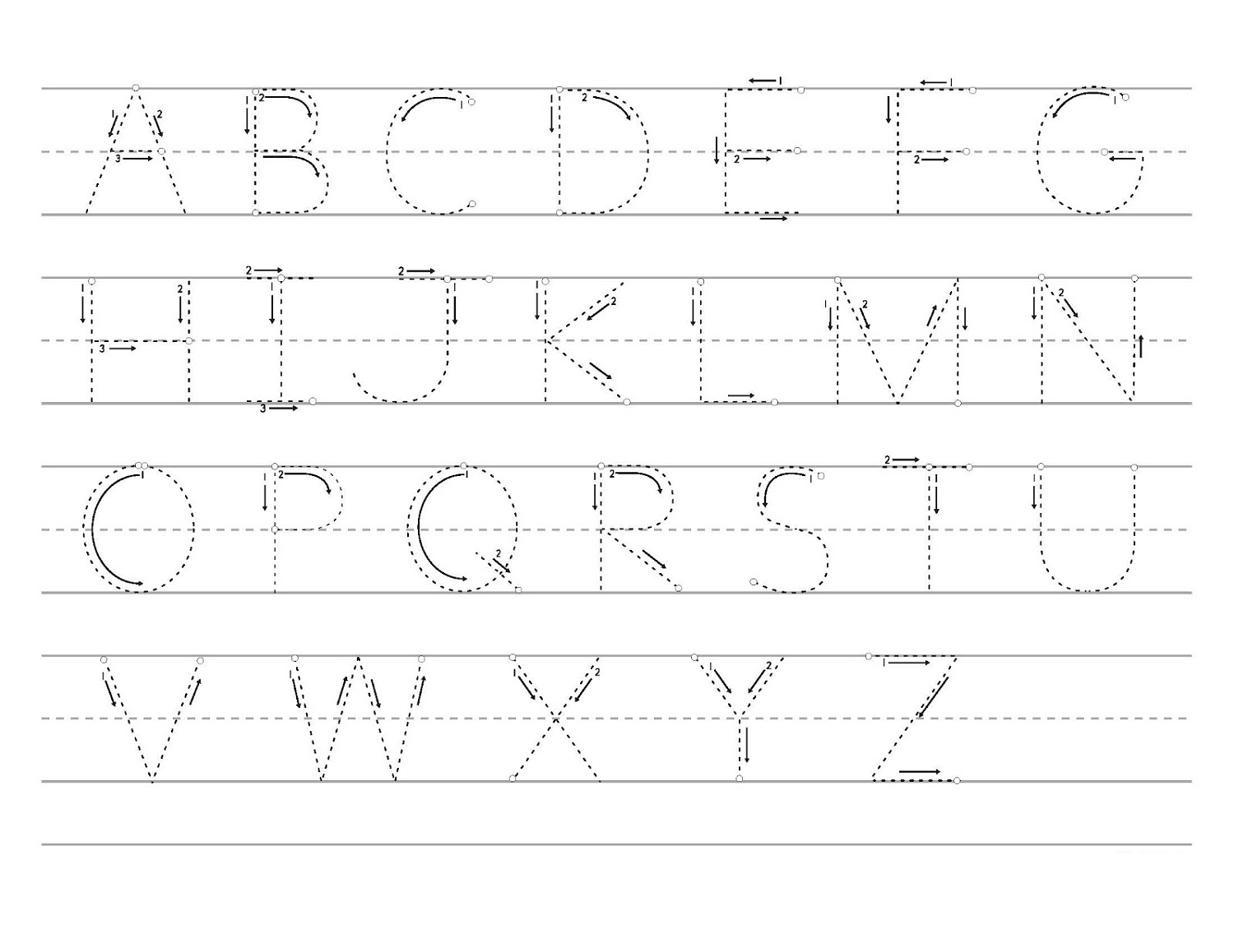 Letter Tracer Pages