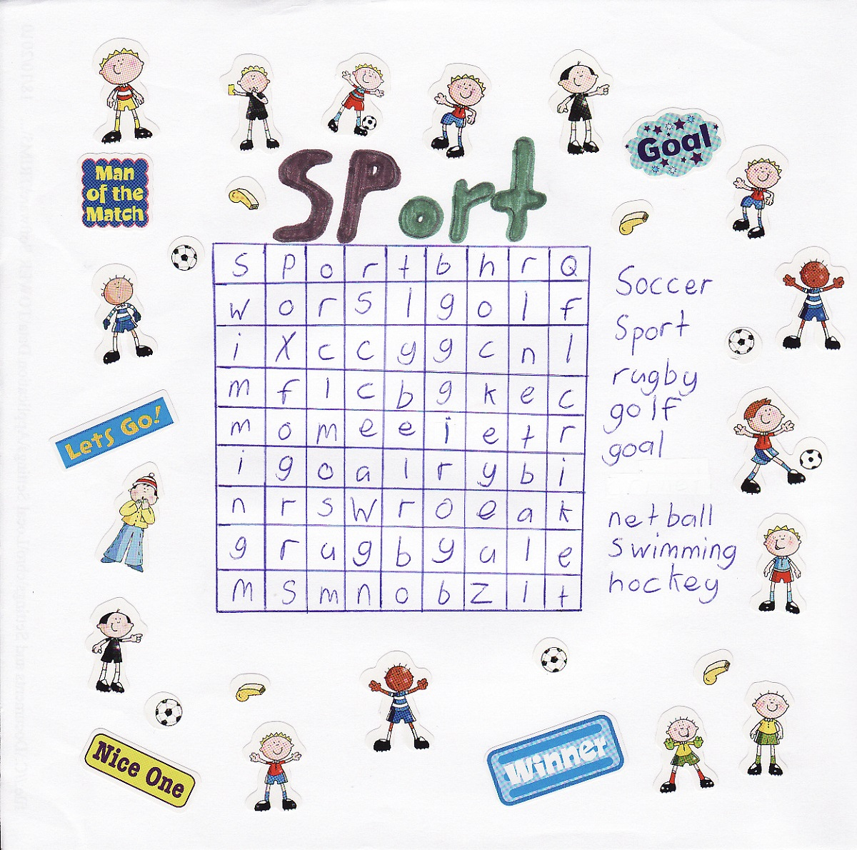 Printable Sports Word Search For Kids
