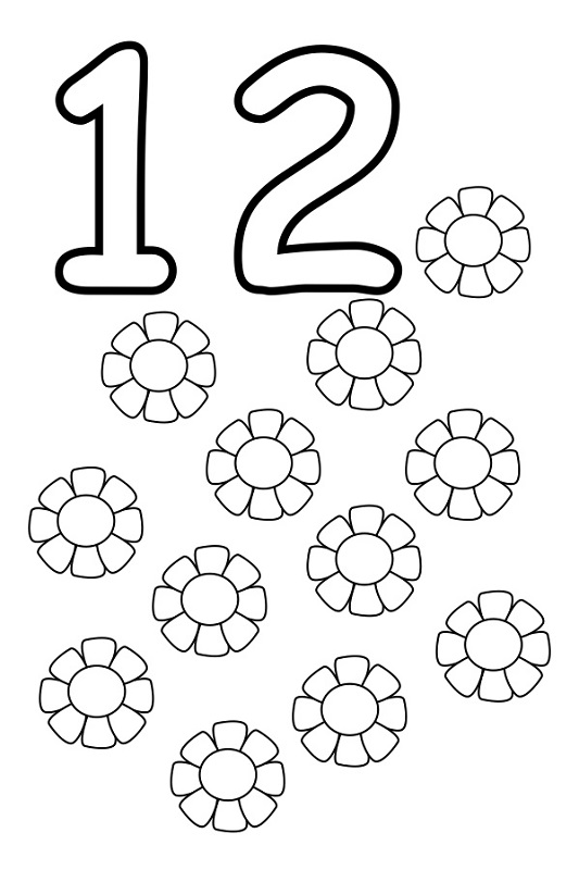 The Number 12 Worksheets For Preschoolers. The. Best Free
