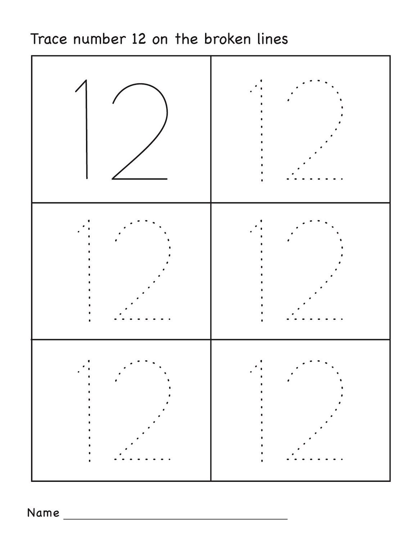 Worksheet 12 Math Activity