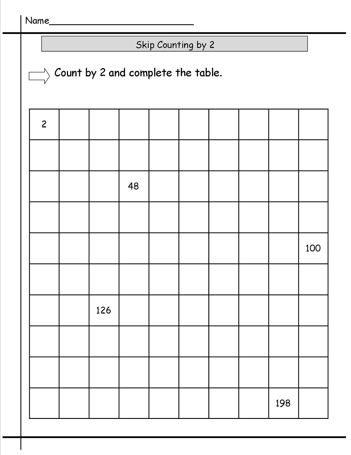 Printable Addition Worksheet 2s