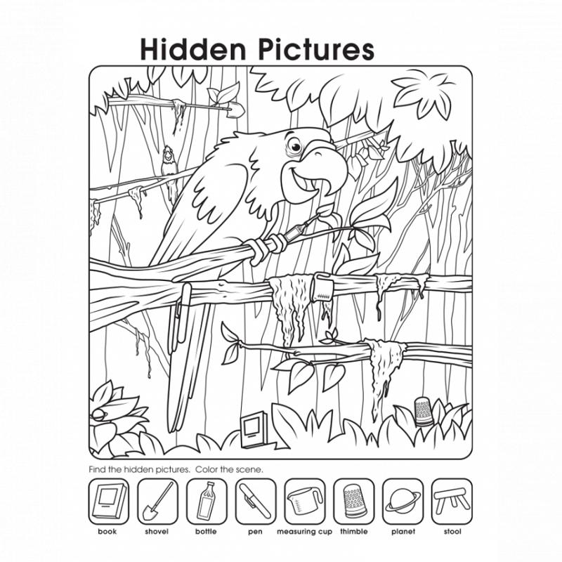 Printable Hidden Pictures Worksheets Activity Shelter