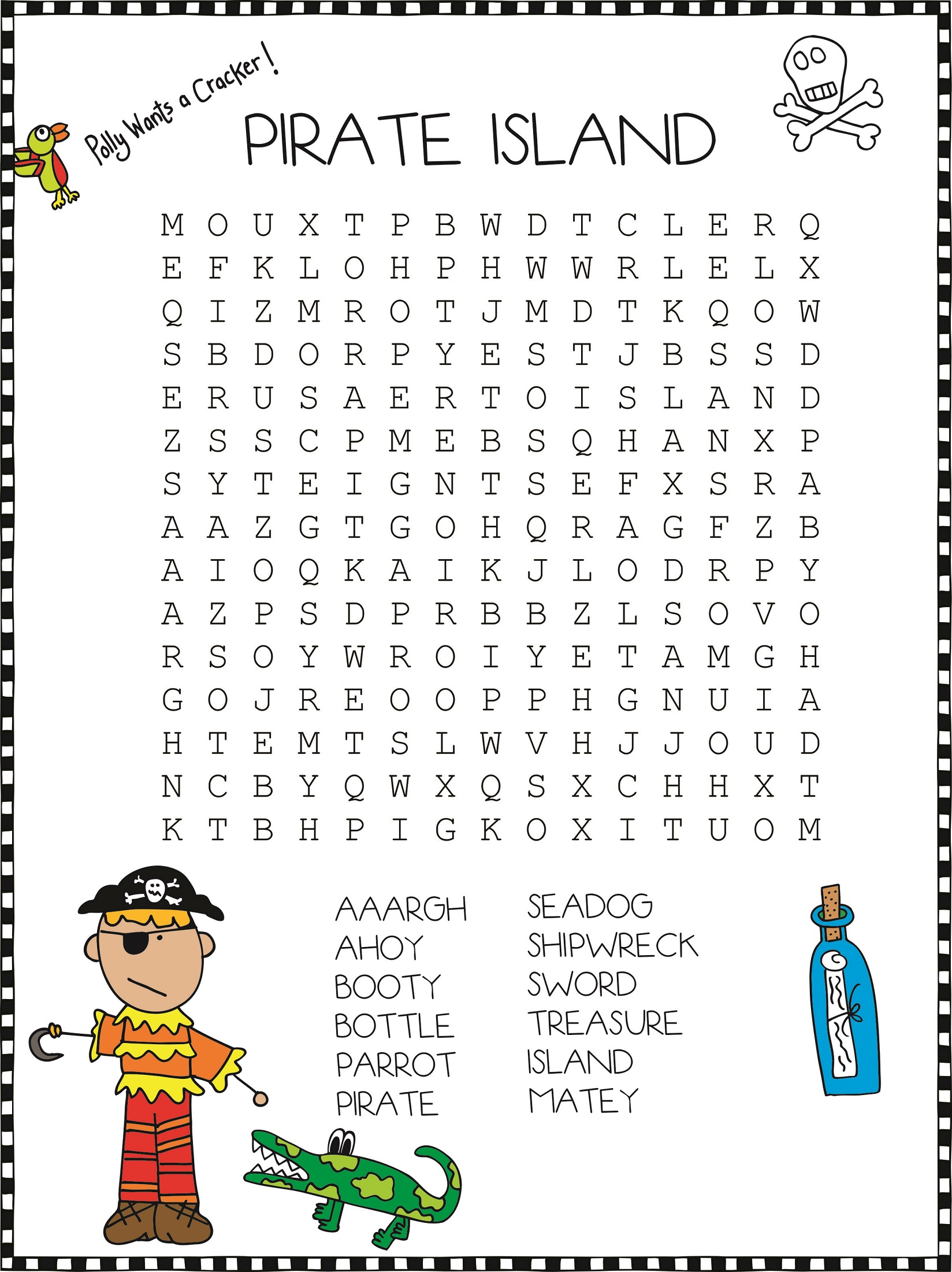 Pirate Word Search To Print