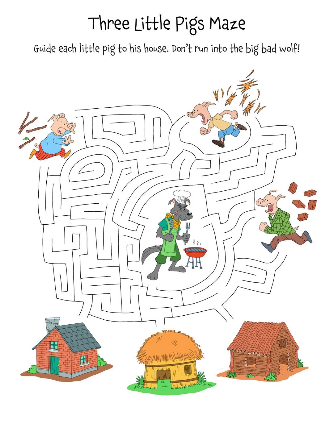 Pig Worksheet For Kindergarten