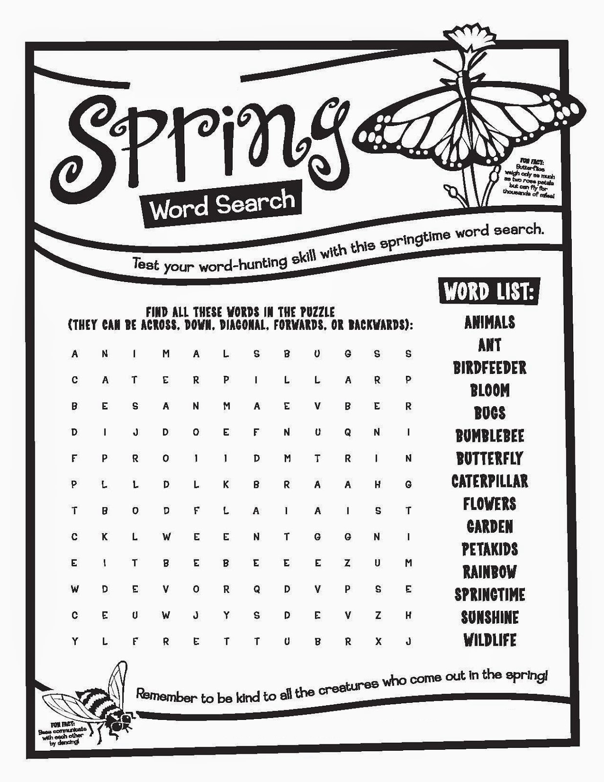 Free Kid Word Searches
