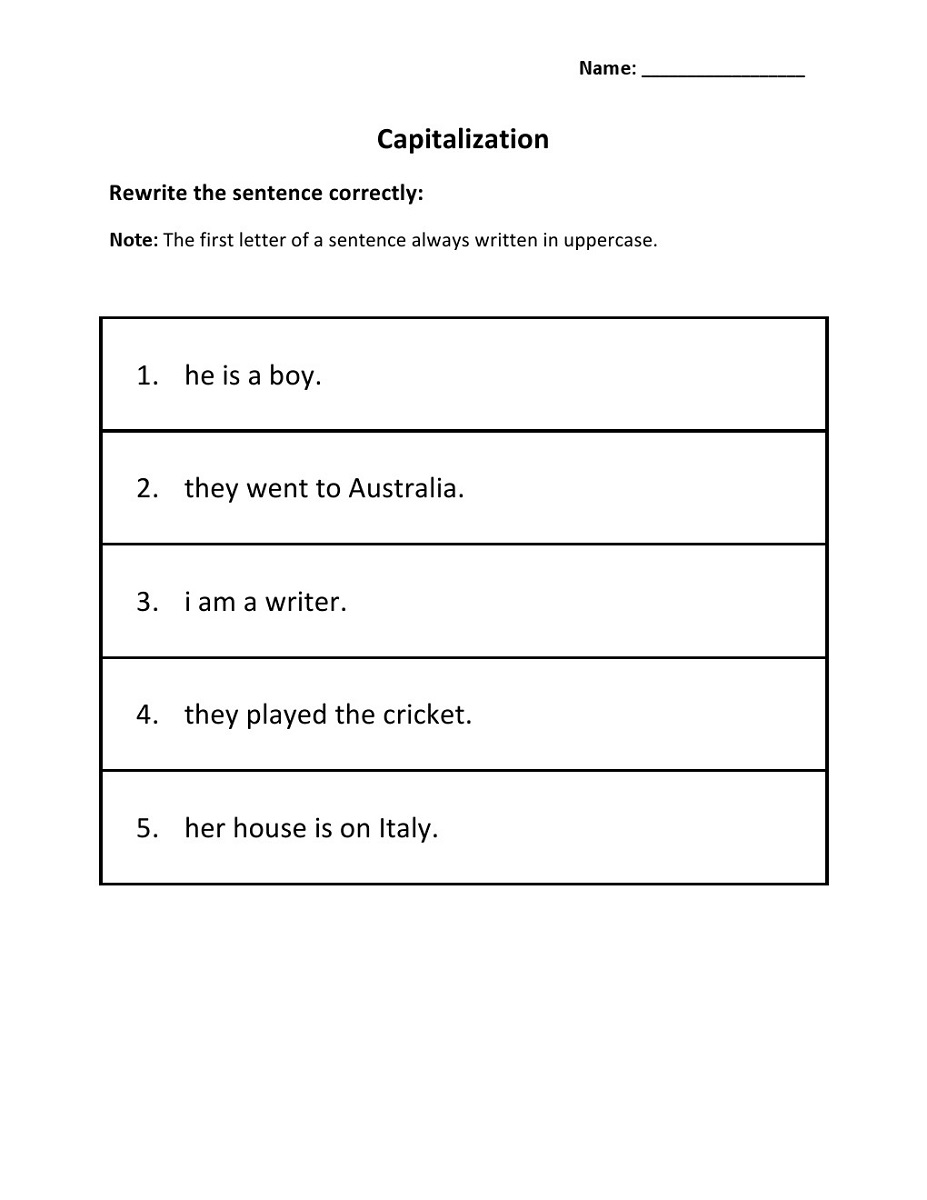 hight resolution of Capita Letter Worksheets Printable   Activity Shelter
