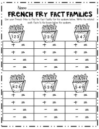 Fact Family Worksheets for First Grade | Activity Shelter